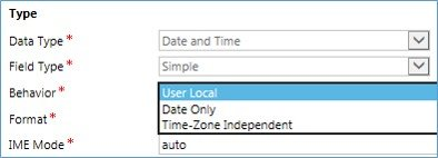 Date Field in Microsoft Dynamics CRM 1