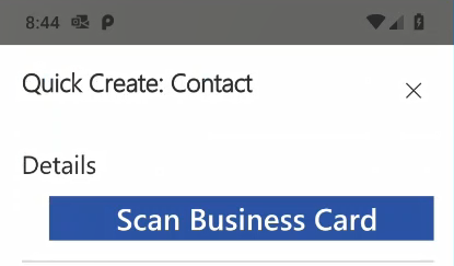 Microsoft Dynamics 365 Business Card Scanner