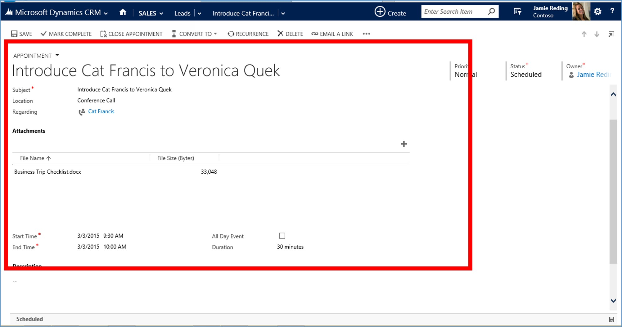 Microsoft Dynamics CRM 2015 Activity Records part 2 image4