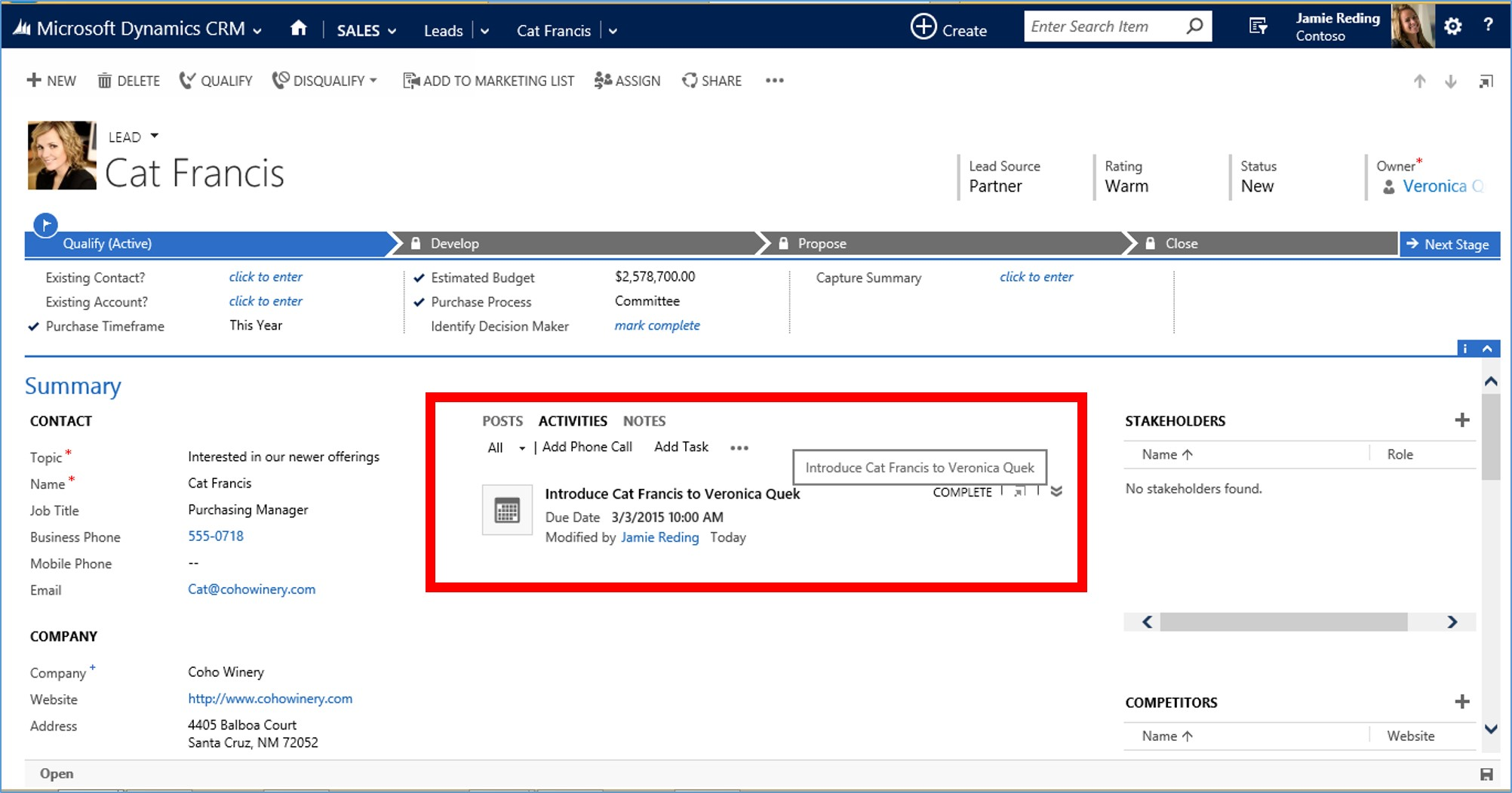 Microsoft Dynamics CRM 2015 Activity Records part 2 image5