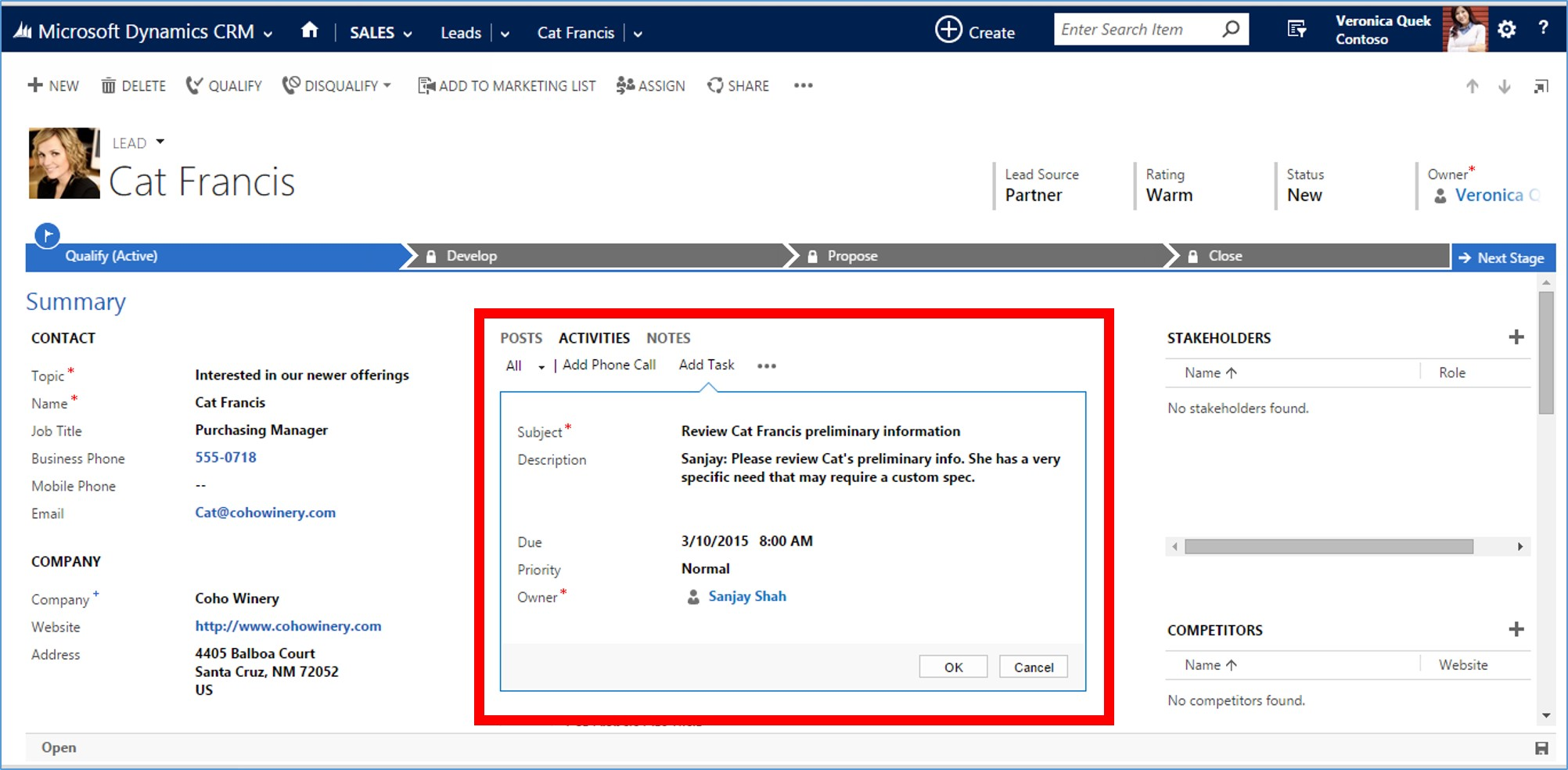 Microsoft Dynamics CRM 2015 Activity Records part 2 image8