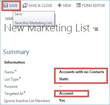 Microsoft Dynamics CRM - Using Marketing Lists to Enhance Advanced Find 2