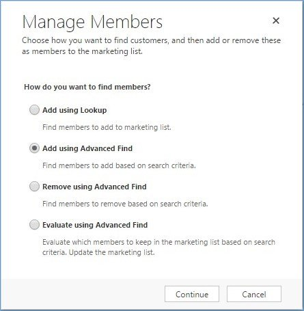 Microsoft Dynamics CRM - Using Marketing Lists to Enhance Advanced Find 4