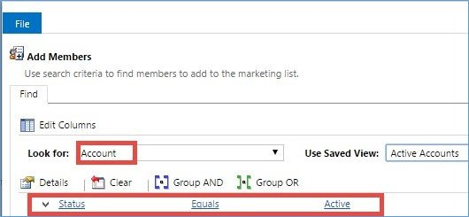 Microsoft Dynamics CRM - Using Marketing Lists to Enhance Advanced Find 5