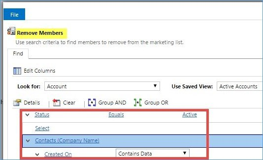 Microsoft Dynamics CRM - Using Marketing Lists to Enhance Advanced Find 9